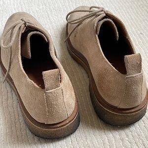 Tan Suede AMI Brogue Shoes: MENS 9